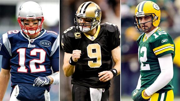 Brady, Brees and Rodgers